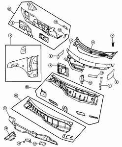 2007 Dodge Caravan Seal  Cowl  Coel Plenum Lower Drain