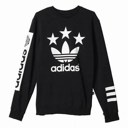 Adidas Sudadera Negro Crew Street Manelsanchez Logotipo