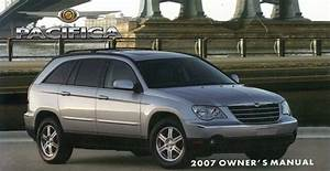 2007 Chrysler Pacifica Owners Manual User Guide Reference