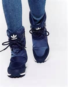 buy womens winter boots canada adidas adidas originals snowrush navy boots at asos
