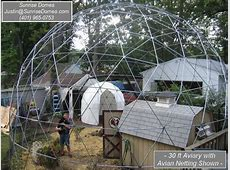 SALE 28 ft Geodesic Dome Outdoor Aviary Flight Cage Animal