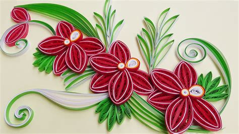 paper quilling how to make a beautiful flower orchids