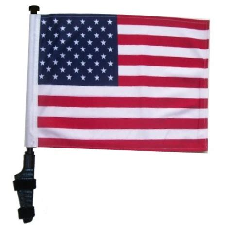 usa golf cart flag  ssp flags ez   bracket