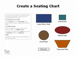 Classroom Or Discussion Group Seating Charts Template For