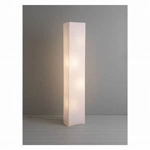 Square paper white crinkled paper floor lamp buy now at for Square paper floor lamp uk
