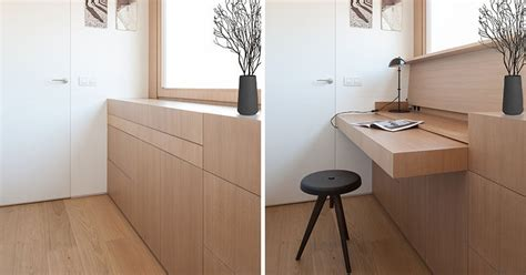 This Built-in Desk Can Be Hidden Away When Not In Use