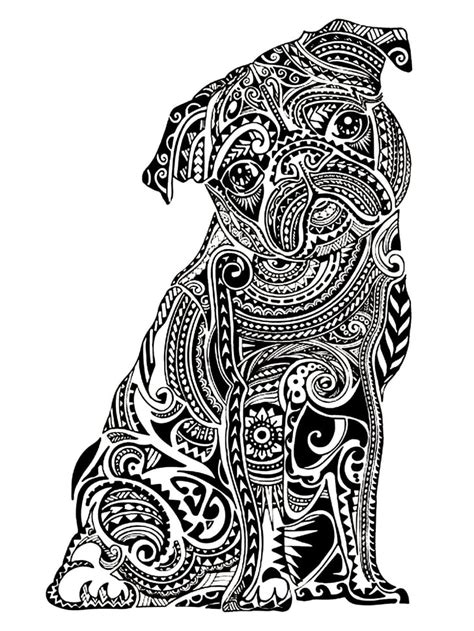 coloring page pug  coloring pages  adults popsugar smart living photo