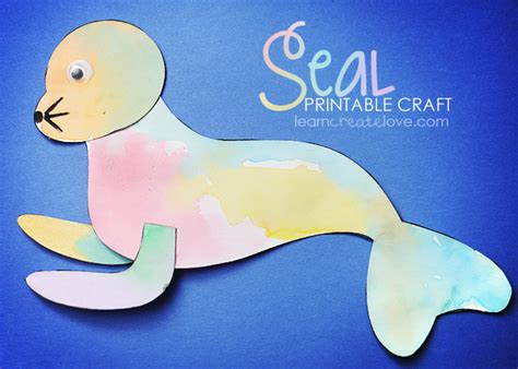 printable seal craft 848 | crafttime 52