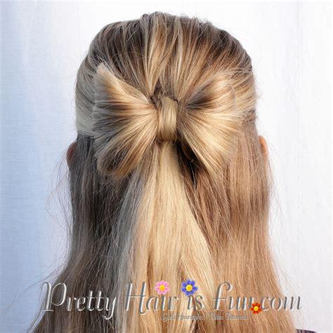pretty hair  fun hair bow   hairstyle pretty