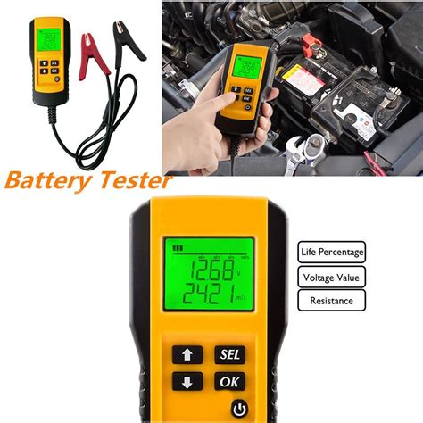 Follow these steps to test your battery: 12V Car Battery Tester Vehicle Car LCD Digital Battery ...