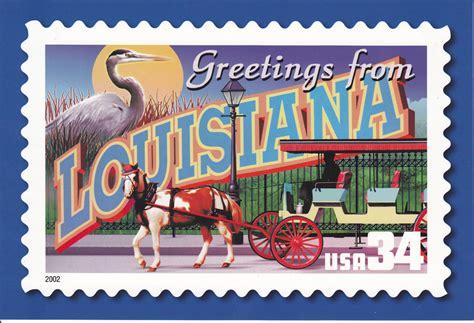 USPS Greetings From Louisiana Postcard | LOUISIANA Tree ...