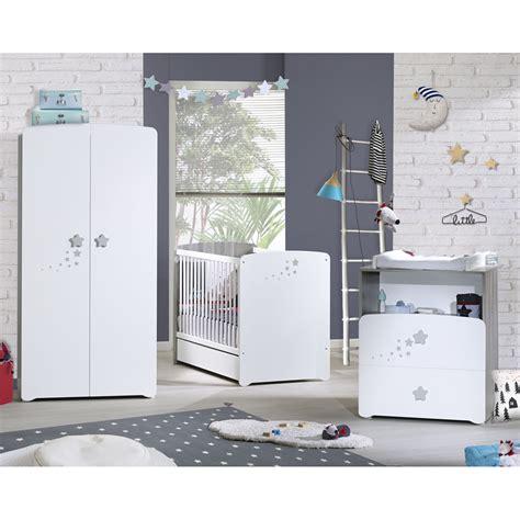 chambre bébé complete carrefour chambre bébé trio nao lit 60x120cm commode armoire de