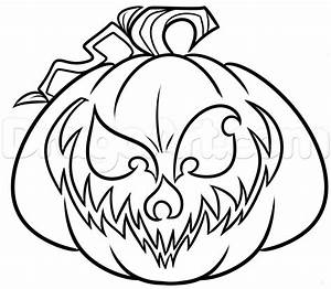 How To Draw A Halloween Jack O Lantern Step By Step