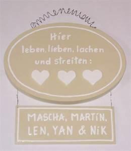 Lieben Leben Lachen : t rschild hier leben lieben lachen 2teilig t rschilder ~ Orissabook.com Haus und Dekorationen