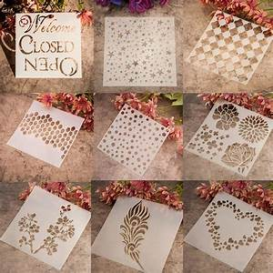 Hot wall painting grain stencil vintage pattern reusable