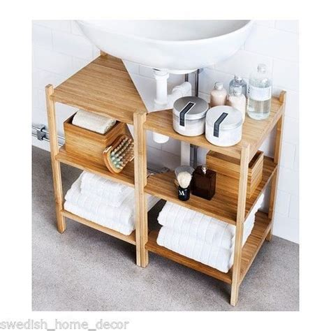 ikea pedestal sink shelf ikea r 197 grund sink shelf corner shelf bamboo bath storage