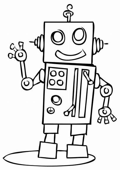 Robot Coloring Geometricas Figuras Armar Pintar Preescolar