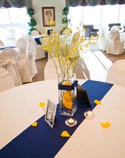 decoration mariage bleu  jaune
