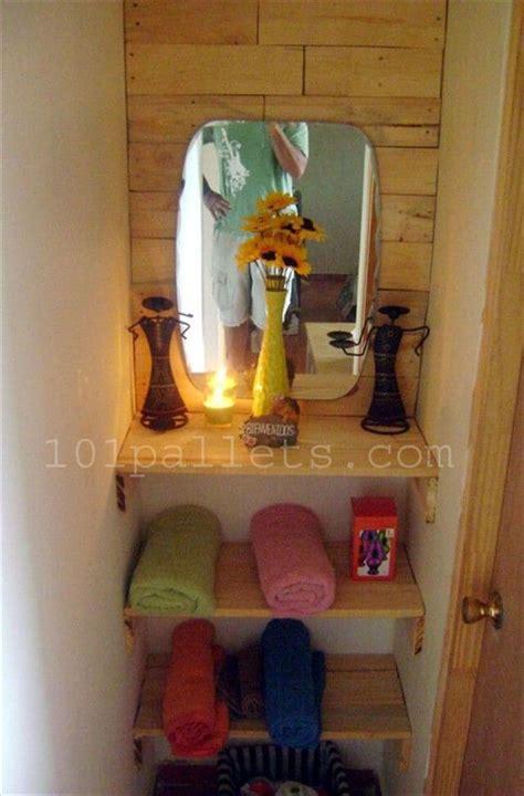 unique bathroom storage  pallets  pallets