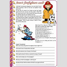 Aren't Firefighters Cool?  Reading Comprehension