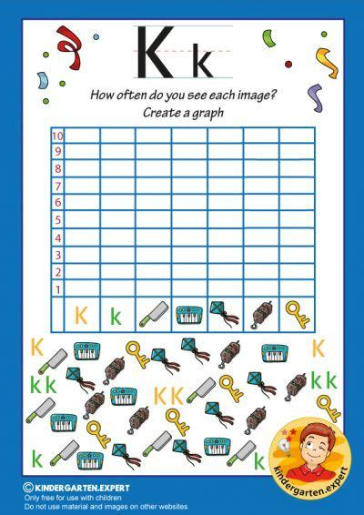 create  graph letter   kids kindergarten expert