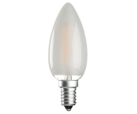 frosted led candle 4w 40w ses e14 non dimmable cl4seso