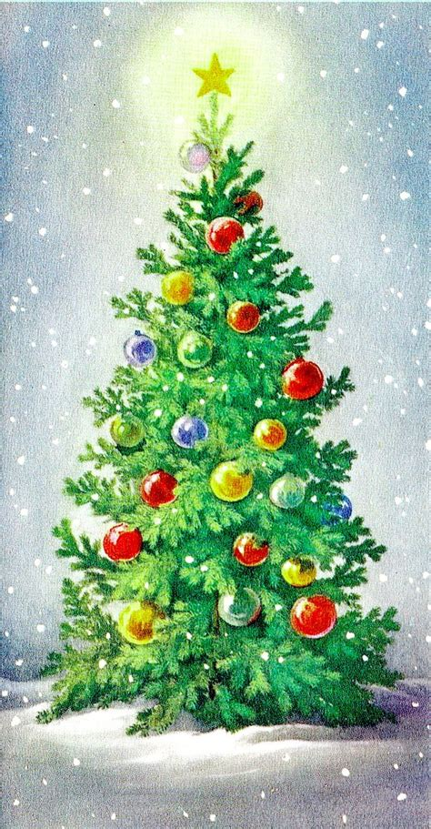 Christmas Tree Christmas Cards  Festival Collections