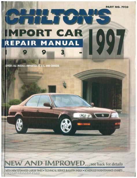 electric and cars manual 1997 infiniti i free book repair manuals used chilton import car repair manual 1993 1997