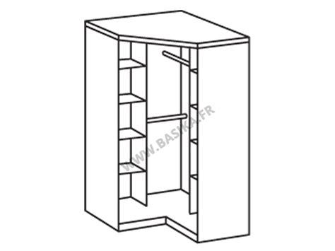 armoire d 39 angle 2 portes gamma blanc noir