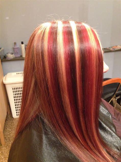 multi color hair highlights hair colors idea