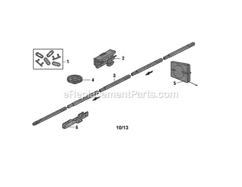 craftsman garage door parts craftsman 13930437 parts list and diagram
