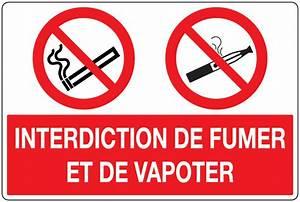 Panneau Interdiction De Fumer : panneau pvc interdit de fumer et vapoter signals ~ Melissatoandfro.com Idées de Décoration