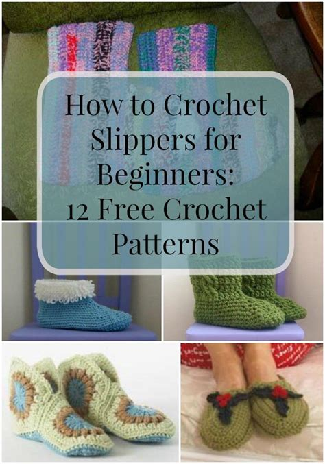 crochet slippers  beginners   crochet