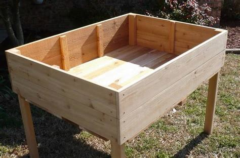 raised garden table new 2x2 all cedar raised planter elevated garden table