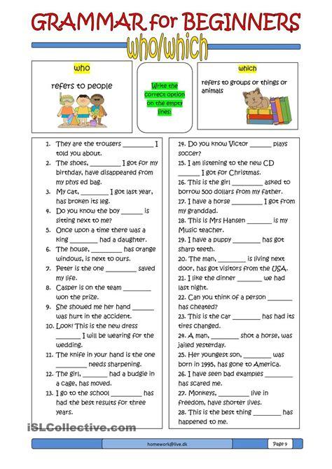 Grammar For Beginners Whowhich  Esl ️  Grammar, English Grammar, Esl