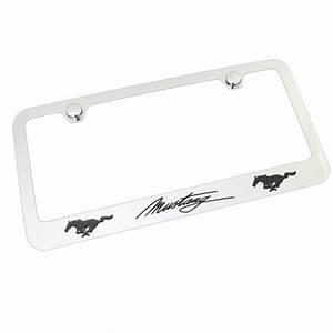 Ford Mustang Script Dual Logo License Plate Frame (Chrome) - Walmart.com - Walmart.com
