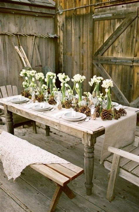 rustic outdoor dining table rustic outdoor dining outdoor space pinterest