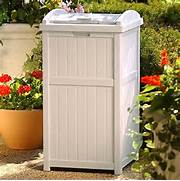 Outdoor Trash Cans by Outdoor Trash Hideaway Garbage Container