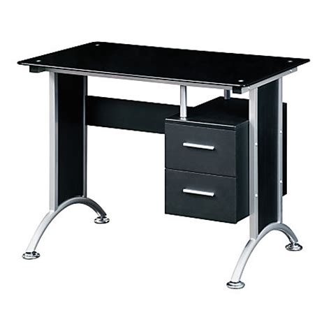 office max computer desk techni mobili glass computer desk black by office depot