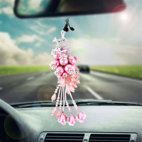 Car Hanging Decorations - lovely car ornaments plastic flower style hanging