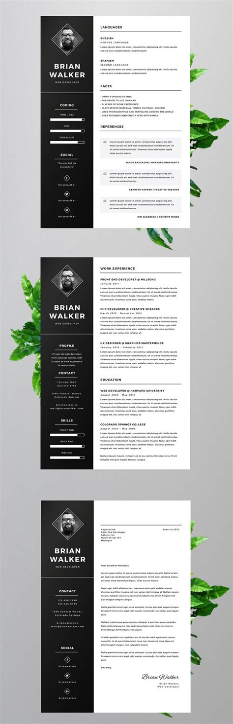 creative resume templates ideas  pinterest