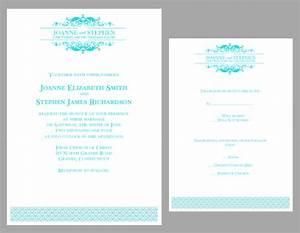 6 best images of teal wedding invitation templates With free wedding invitation templates turquoise