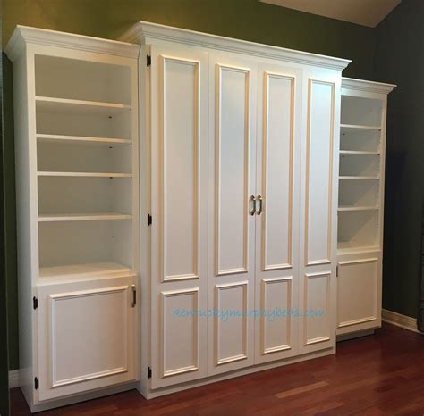 white murphy bed bookcase white painted mdf queen size murphy bed flat panel