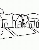 Coloring Neighborhood Clipart Pages Sheet Suburbs Library Popular Coloringhome sketch template