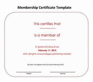 Free 14  Membership Certificate Templates In Samples