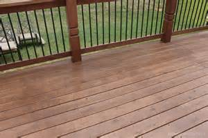 stained deck how to nest for less