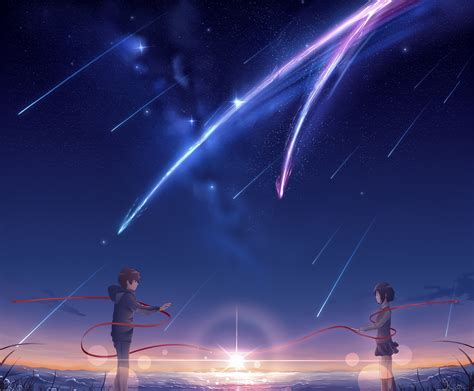 blue anime aesthetic your name