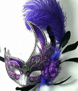 Feather Venetian Masquerade Costume Ball Prom Party ...