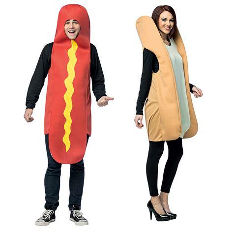 couple hot dog costume hot dog bun couples adult costume standard size ebay