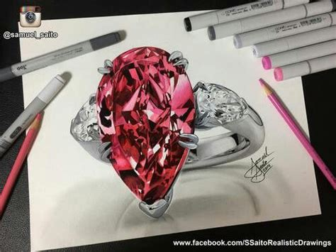 diamond drawing ideas  pinterest diamond
